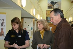 Lord de Mauley gets a tour of Dogs Trust Salisbury rehoming centre