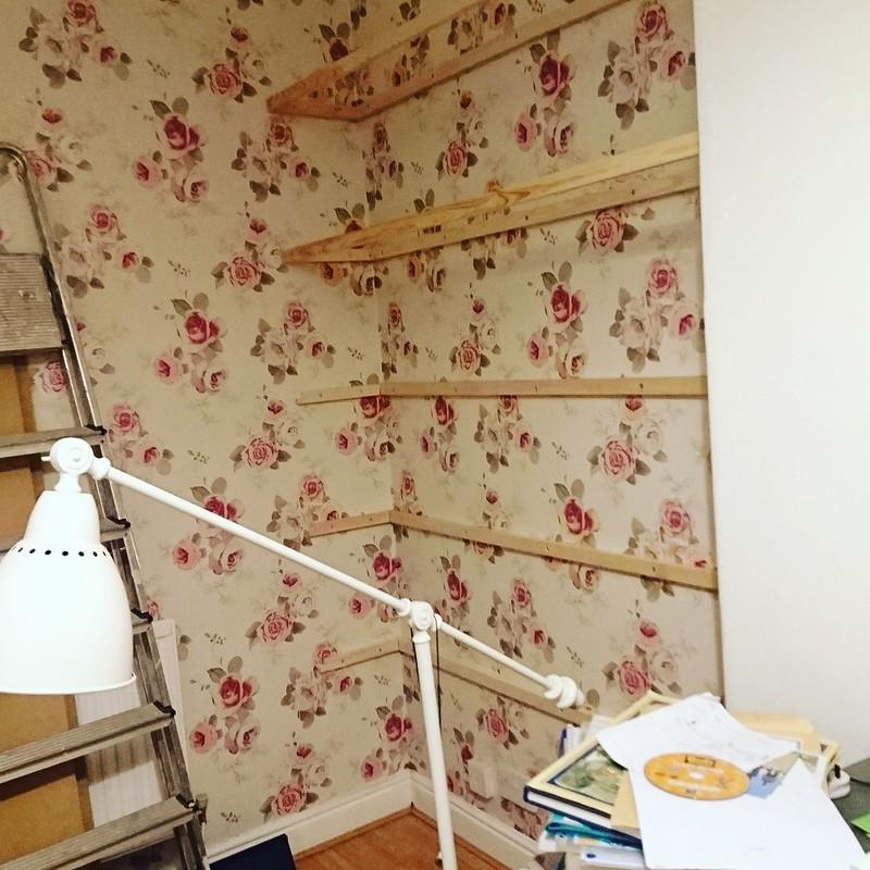 DIY Alcove Shelves