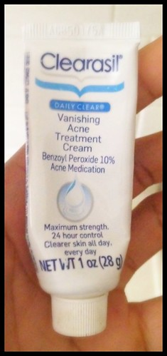 Clearasil Vanishing Acne Treatment Cream.