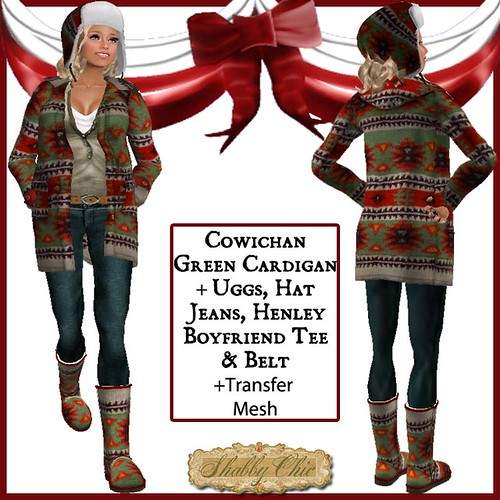 Shabby Chic Green Cowichan Outfit by Shabby Chics