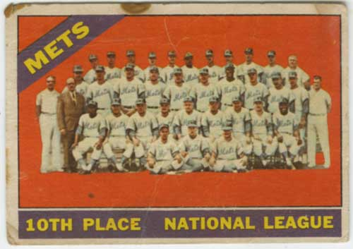 1966 Topps Venezuelan New York Mets Team Card