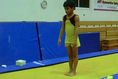 balance beam(0.0), floor gymnastics(0.0), play(0.0), gymnastics(0.0), individual sports(1.0), sports(1.0), artistic gymnastics(1.0), trampolining(1.0),