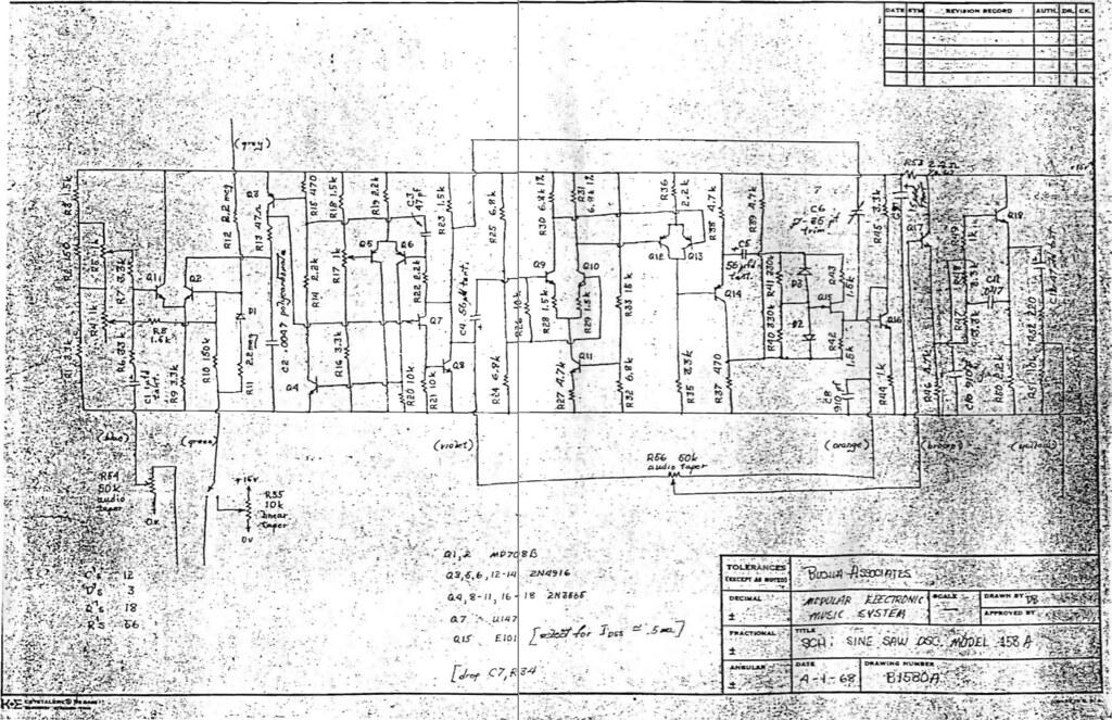 Buchla 158A Schematic