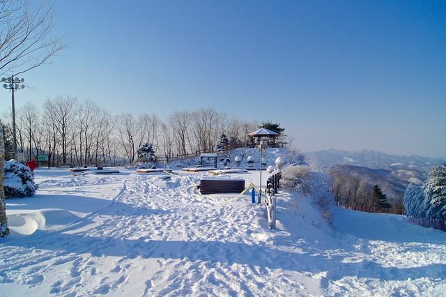 Winter Wonderland At Hyundai Sungwoo Resort South Korea