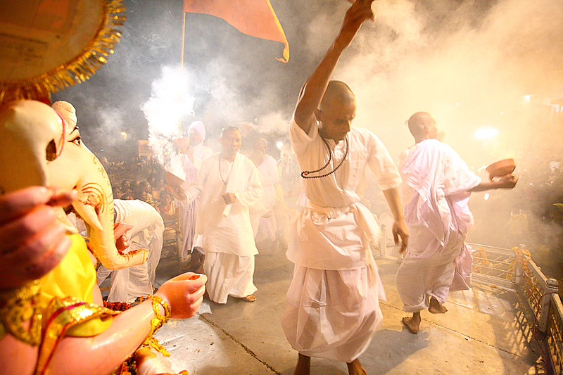 Evening Puja on Doshomi at Varanasi