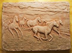 cavalli di irlanda - formella cotta