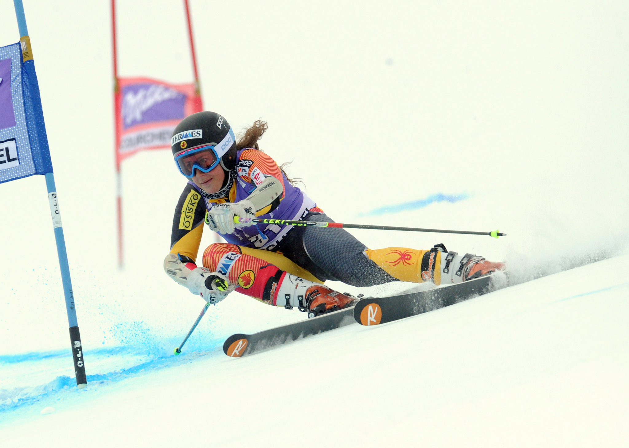 Marie-Pier Préfontaine during World Cup giant slalom in Courchevel, France.
