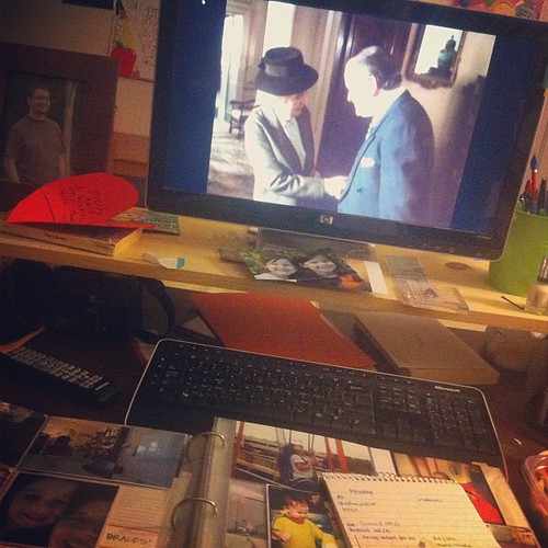 Catching up on #projectlife tonight and watching Miss Marple on Netflix.