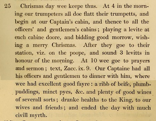 Diary Days From Christmas Past  The Public Domain Review From The Diary Of Henry Teonge  By Henry Teonge And Charles  Knight Source