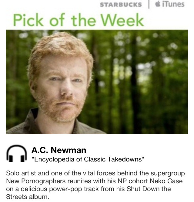 Starbucks iTunes Pick of the Week - A. C. Newman