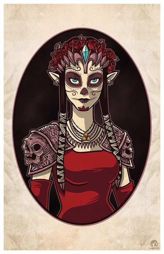 princesas dia de muertos