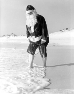 Santa Claus at Panama City Beach, Florida