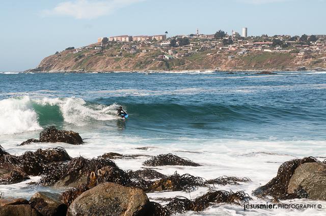 Bodyboard en Valparaiso. Chile