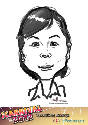 digital live caricature for iCarnival 2012  (IDA) - Day 1 - 87