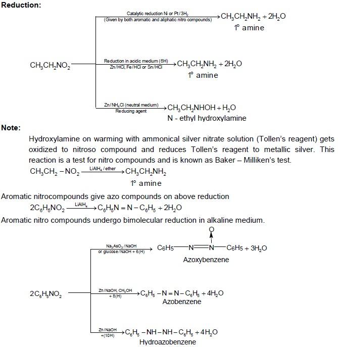 CBSE Class 12 Chemistry Notes: Amines – Properties of Nitro