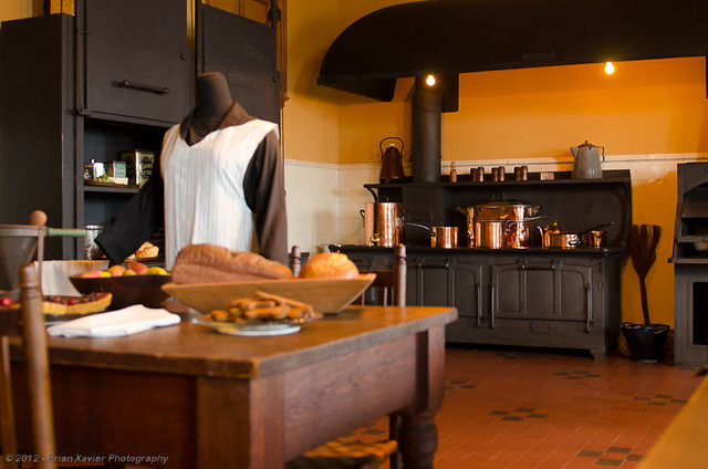 Biltmore mansion kitchen partial view shooting from for Is biltmore estate haunted
