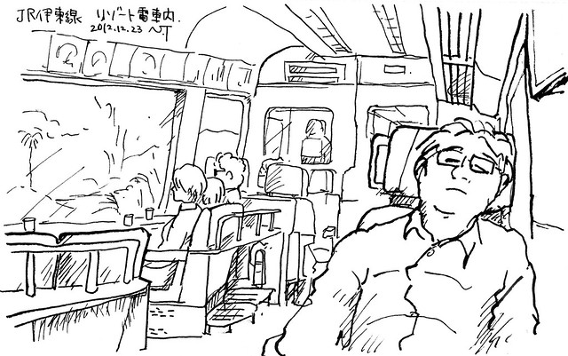 JR伊東線 リゾート電車内