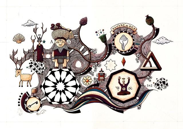Cosmogonie #03 - Dessin en cours de création