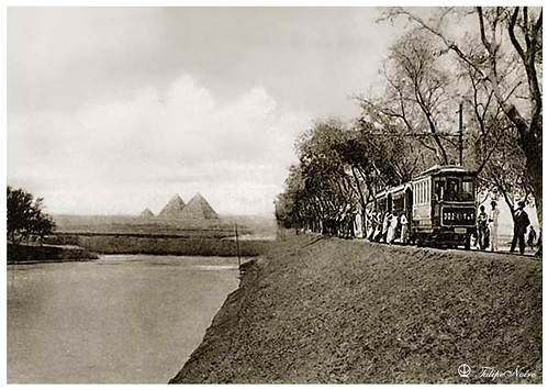 The Three Pyramids & Tramway In 1910's