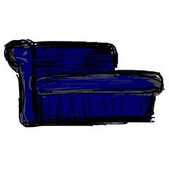 rectangle, furniture, cobalt blue,