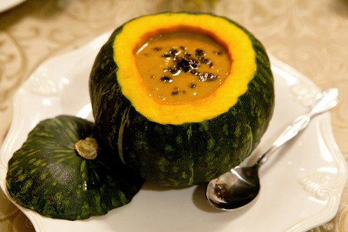 Roasted kabocha ginger soup
