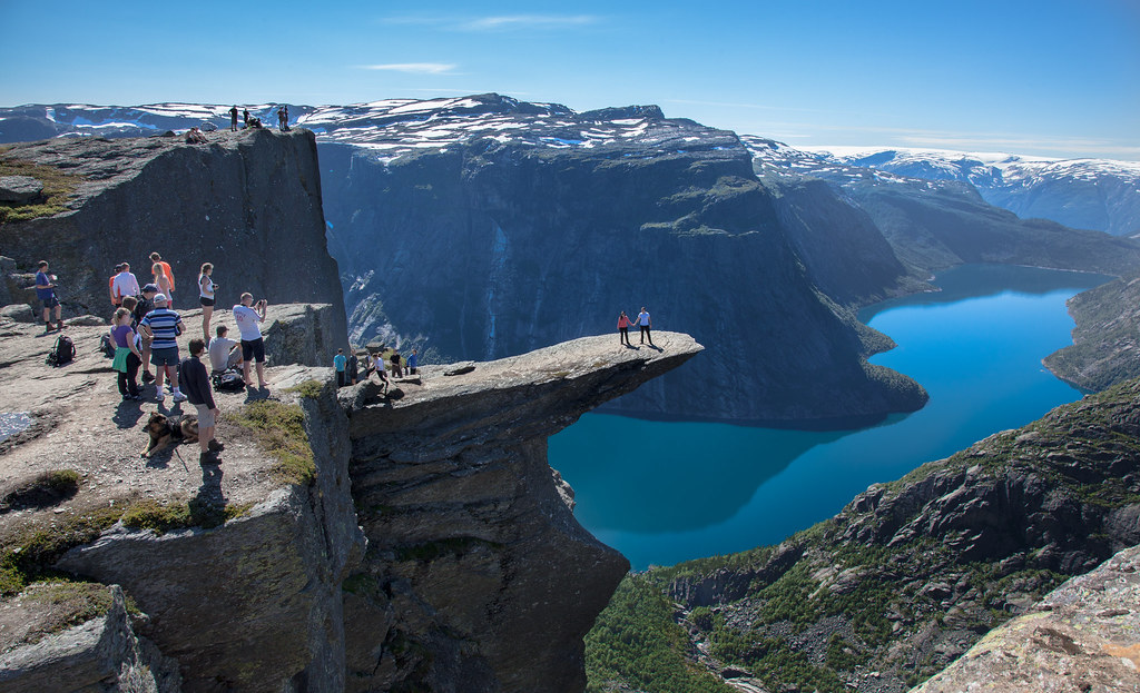 View from Trolltunga - Lake Ringedalsvatnet, Norway