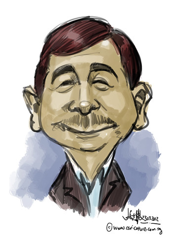 digital caricature live sketching for Vacheron Constantin - 1