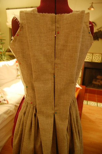 Making a robe a l'anglaise 12