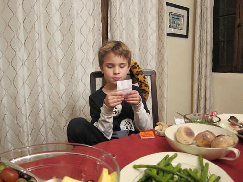 Ezra reading jokes