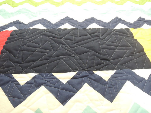 Tortilla Strips - love the triangle quilting!