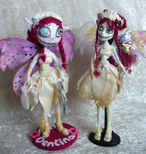 OOAK Custom FELT Dentina Tooth Fairy with original Monster High inspiration by redmermaidwerewolf