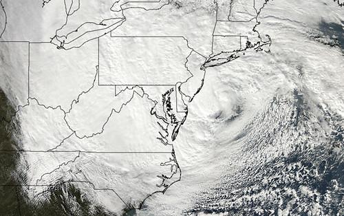 Hurricane Sandy satellite view
