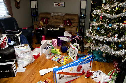 Christmas morning aftermath.