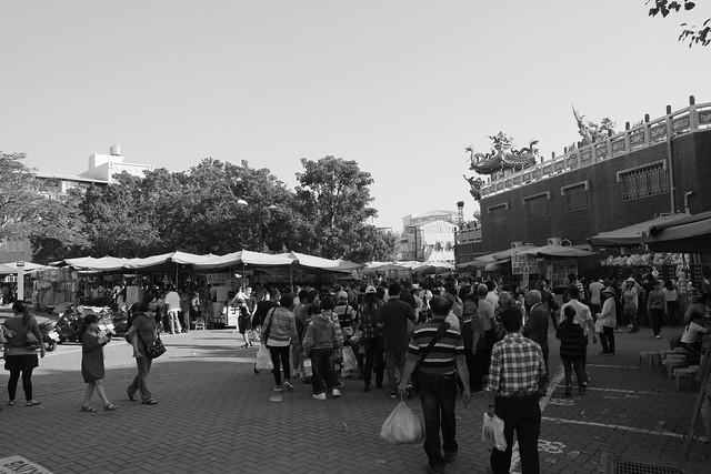 台南安平古堡前的市集