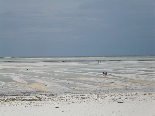 Low tide at Paje Beach