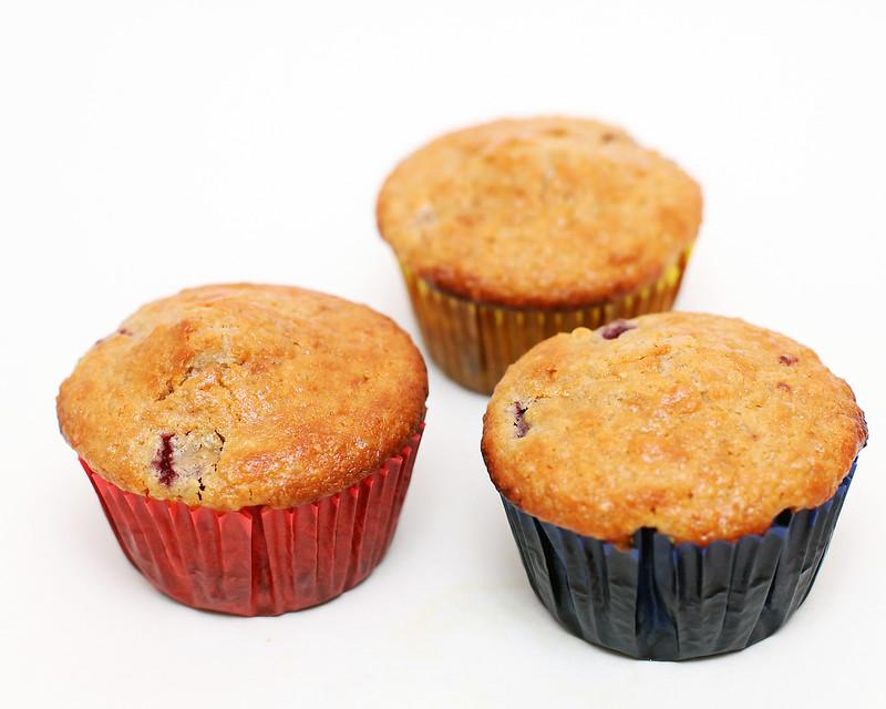 Raspberry Cream Cheese Muffins with Quinoa