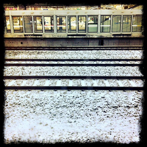 Snow on the tracks. #winter #trains #travel