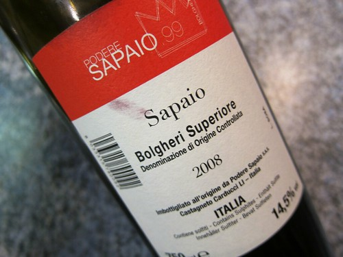 2008 Sapaio Bolgheri