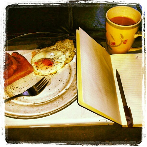 Day One #projectlife365 Breakfast and meeting myself on the page. #resolutions