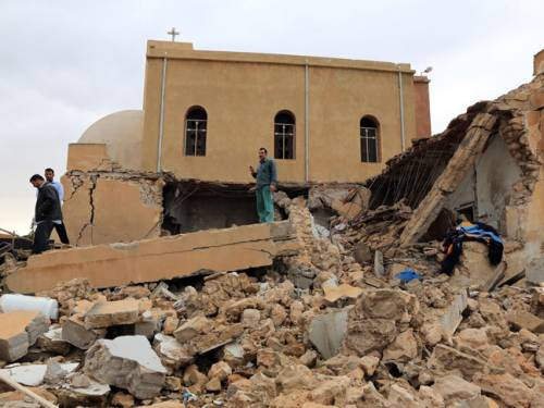 Libya church blast in Dafinya where two people were killed on December 30, 2012. The North African state has been the scene of social chaos since the overthrow of the Jamahiriya under Muammar Gaddafi in 2011. by Pan-African News Wire File Photos