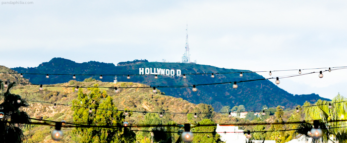 tonight we'll be dancing on the edge of the hollywood sign