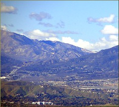 Cajon Pass from Redlands, CA 12-27-12