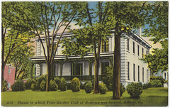 House in which First Garden Club of America was formed, Athens, Ga.