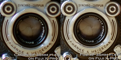 Fuji XF 35mm vs Canon EF 35mm f1.4 No.3