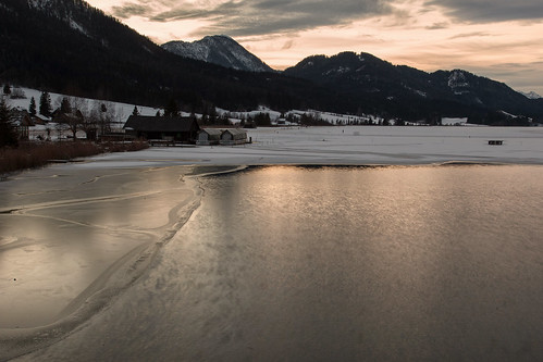 winter sunset lake ice lago see kärnten carinthia inverno sunsetlight weissensee weisensee ghiaccio carinzia ghiacciato bestsunset