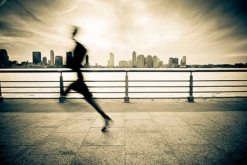 Runner in Motion in New York City