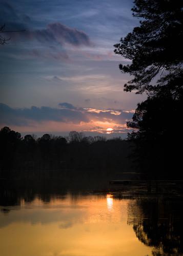 sunset sc pine night pond pentax cloudy lexington gibsonpond tamron1750 justpentax pentaxk30