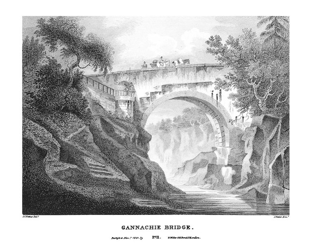 etching: Gannachie Bridge