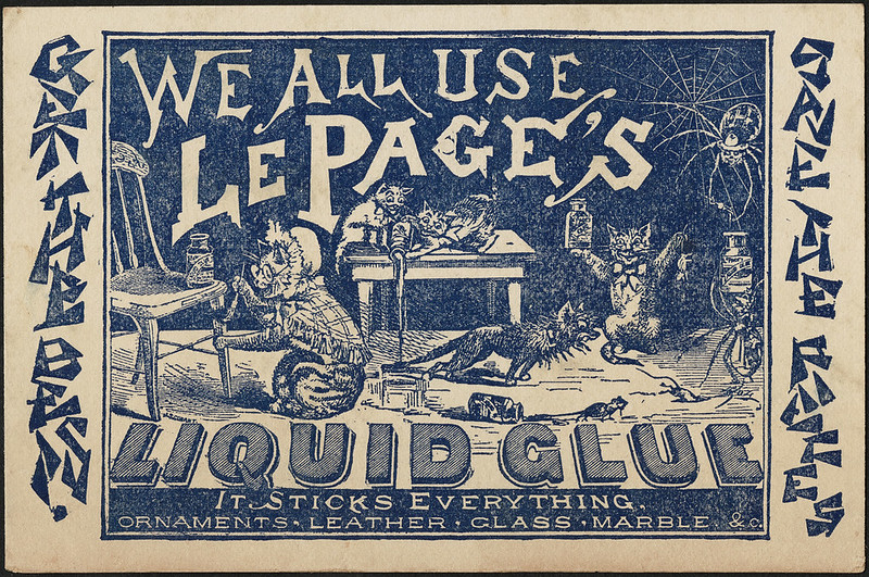 "We all use Le Page""s Liquid Glue - it sticks everything [front]"
