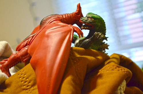Rodan attacks Godzilla in the crevasse - Godzilla on Mt Laundry - 2013-01-15